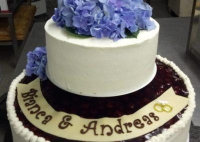 zwei Stöckige Hochzeitstorte