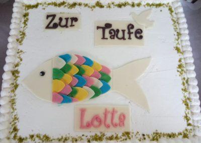 Kuchen zur Taufe